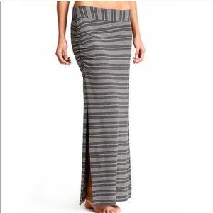 Athleta Serafina Maxi Skirt Small Striped Gray